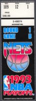 1993 NBA Playoffs Cavaliers at Nets ticket stub