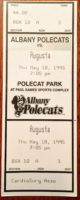 1995 MiLB South Atlantic League Augusta GreenJackets at Albany Polecats ticket stub