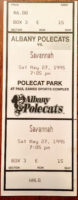 1995 MiLB South Atlantic League Savannah Cardinals at Albany Polecats ticket stub