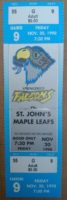 1998 AHL St. John's Maple Leafs at Springfield Falcons ticket stub