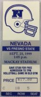 1999 NCAAF Fresno State at Nevada ticket stub