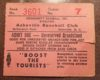Asheville Tourists ticket stub