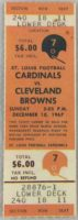 1967 NFL Browns at Cardinals Football Full Ticket