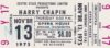 1975 Harry Chapin Live at the Spokane Opera House ticket stub