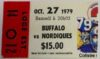 1979 NHL Sabres at Nordiques ticket stub