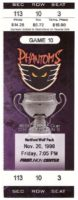 1998 AHL Hartford Wolf Pack at Philadelphia Phantoms ticket stub