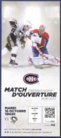 2016 NHL Penguins at Canadiens ticket stub