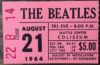 1964 Original Beatles Ticket Stub Seattle Coliseum