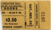 1967 The Doors Shrine Exposition Hall Concert Ticket Stub