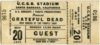1973 Grateful Dead at UCSB ticket stub