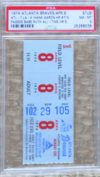 1974 MLB Dodgers at Braves Aaron 715 ticket stub