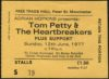 1977 Tom Petty UK Concert Ticket Stub