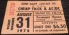 1978 AC DC Cheap Trick Ticket Stub