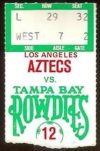 1980 NASL Aztecs at Rowdies ticket stub