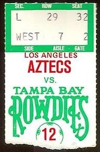 1980 NASL Aztecs at Rowdies ticket stub 4