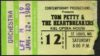 1980 Tom Petty Concert Ticket Stub St. Louis