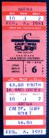 1981 MISL California Surf ticket stub