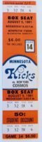 1981 NASL Cosmos at Kicks ticket stub