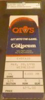 1990 NBA Bulls at Cavaliers Michael Jordan 69 Point Game Ticket Stub
