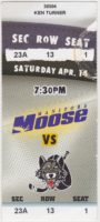 2001 IHL Chicago Wolves at Manitoba Moose ticket stub
