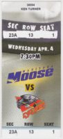 2001 IHL Cincinnati Cyclones at Manitoba Moose ticket stub