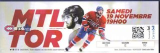 2016 NHL Maple Leafs at Canadiens ticket stub