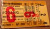 1960 NCAA Boxing San Jose State at Wisconsin ticket stub