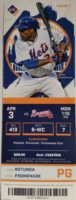 2017 MLB Braves at Mets ticket stub