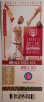 2017 MLB Cubs at Cardinals ticket stub