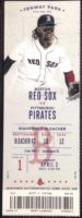 2017 MLB Pirates at Red Sox ticket stub