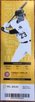2017 MLB Cubs at Pirates ticket stub