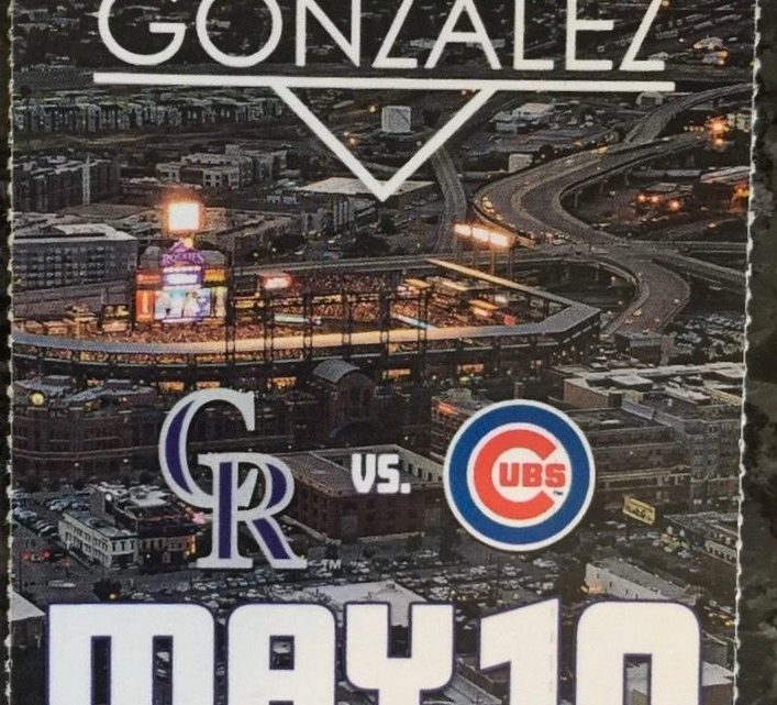 2017 MLB Cubs at Rockies ticket stub