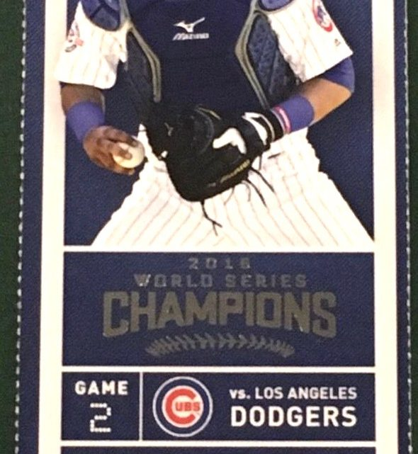 2017 MLB Dodgers at Cubs ticket stub