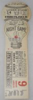 1938 Brooklyn Dodgers Baseball Ebbets Night Game Full Lightbulb Proof Ticket Stub