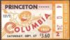1952 NCAAF Princeton at Columbia ticket stub