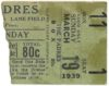 1939 PCL White Sox at Padres ticket stub