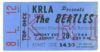 1966 Beatles Dodger Stadium ticket stub