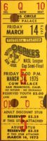 1975 NASL Earthquakes ticket stub
