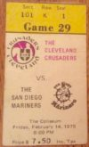 1975 WHA Mariners at Crusaders ticket stub