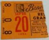 1952 MLB Brooklyn Dodgers at Boston Braves ticket stub