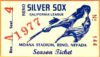 1977 Reno Silver Sox Season Pass