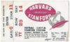 1949 NCAAF Harvard at Stanford ticket stub