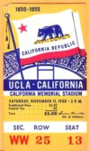 1950 NCAAF UCLA at California ticket stub