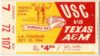 1964 NCAAF Texas A and M at USC ticket stub