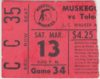 1977 IHL Toledo Goaldiggers at Muskegon Mohawks ticket stub