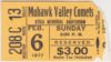 1977 NAHL Mohawk Valley Comets ticket stub
