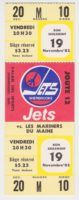 1982 AHL Sherbrooke Jets unused ticket vs Maine