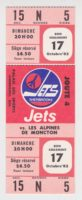 1982 AHL Sherbrooke Jets unused ticket vs Moncton