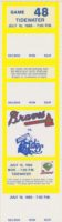 1989 MiLB International League Tidewater Tides at Richmond Braves ticket stub