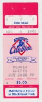 1995 MiLB Midwest League Peoria Chiefs at Rockford Cubbies ticket stub